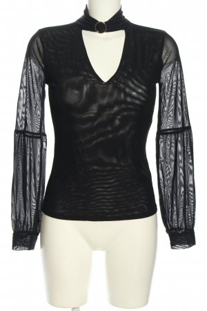 Guess Schlupf-Bluse schwarz Elegant