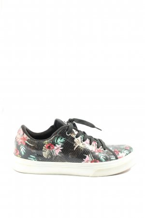 Guess Schnürsneaker Blumenmuster Casual-Look