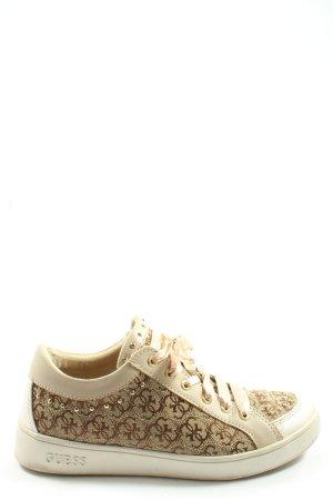 Guess Sneaker stringata bianco sporco motivo astratto stile casual
