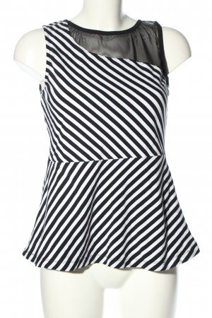 Guess Peplum Top white-black striped pattern casual look