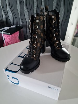 Guess Lace-up Boots black-brown leather