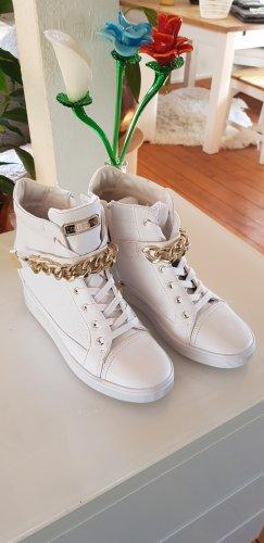 Guess Sneaker con tacco bianco