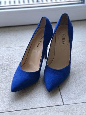 Guess Budapest schoenen blauw Chiffon