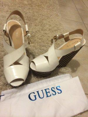 Guess Plateauzool sandalen wit