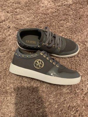 Guess High top sneaker grijs goud
