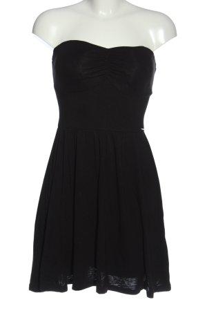 Guess schulterfreies Kleid schwarz Elegant