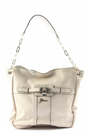 Guess Shoulder Bag natural white themed print business style