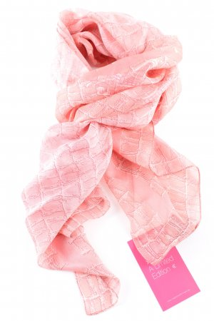 Guess Silk Scarf pink allover print casual look