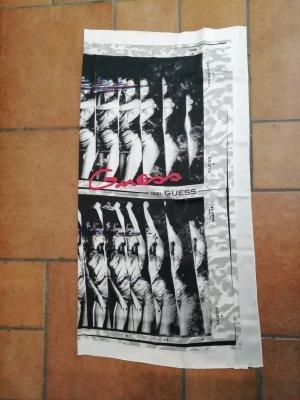 Guess Jeans Zijden sjaal wit-lichtgrijs