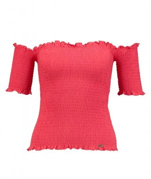 Guess Koszula typu carmen różowy
