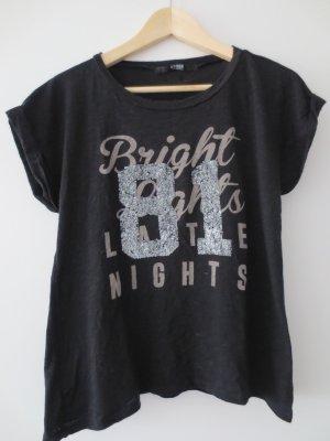 Guess Shirt kurzarm, schwarz, Gr. 36, Aufdruck, Pajetten