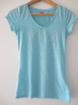 Guess Shirt kurzarm, türkisblau, XS, Gr. 36