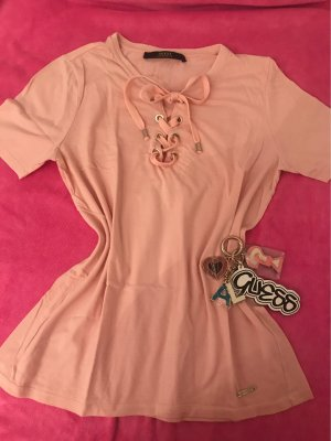 Guess Camiseta rosa-rosa empolvado Algodón