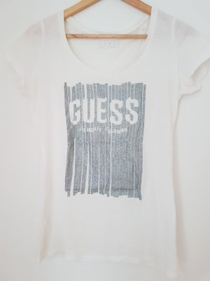 Guess Shirt mit silbernem Druck