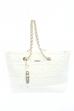 Guess Shopper white embroidered lettering casual look