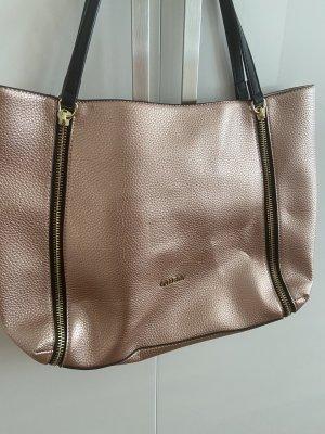 Guess Borsa shopper color oro rosa-nero