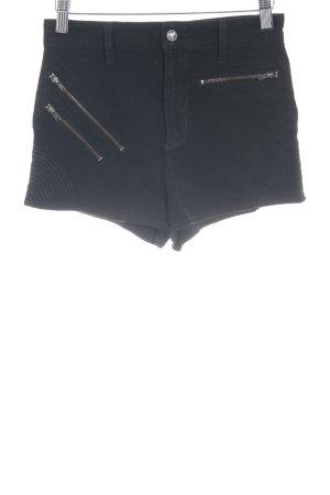 Guess Shorts schwarz Glitzer-Optik