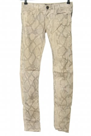 Guess Skinny Jeans creme Allover-Druck Casual-Look