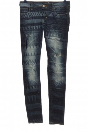 Guess Skinny Jeans blau Allover-Druck Casual-Look