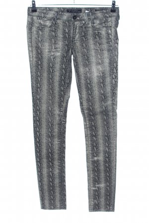 Guess Skinny Jeans hellgrau Allover-Druck Casual-Look