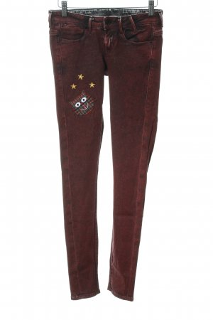 Guess Skinny Jeans neonrot College-Look