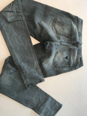 Guess Jeans Pantalón de tubo gris Algodón