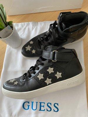 Guess Sneakers met veters zwart-zilver