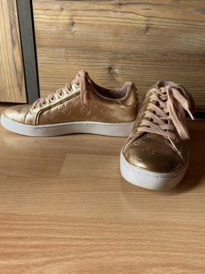 Guess Lace-Up Sneaker rose-gold-coloured