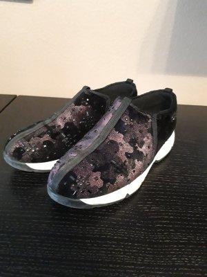 Guess Sneaker slip-on nero-viola scuro