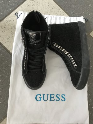 Guess High top sneaker zwart zilver