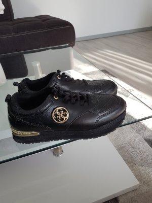 Guess Sneakers met veters zwart goud