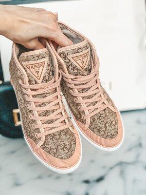 Guess Sneakers met veters roségoud-room
