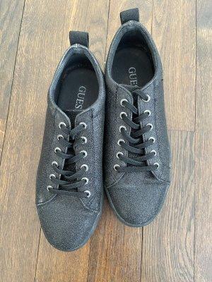 Guess Sneaker schwarz mit Glittereffekt