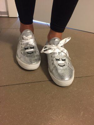 Guess Lace-Up Sneaker silver-colored