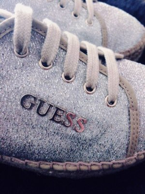 Guess Lace-Up Sneaker gold-colored