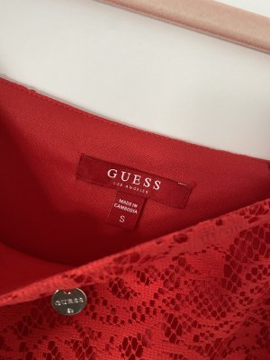 Guess Vestido tipo overol rojo
