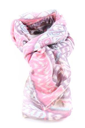Guess Sommerschal pink-weiß abstraktes Muster Business-Look