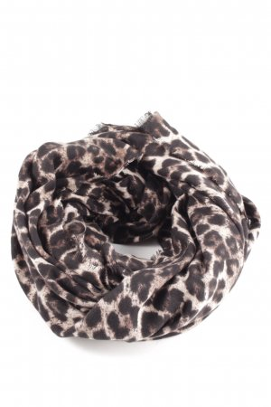 Guess Zomersjaal wolwit-bruin luipaardprint casual uitstraling