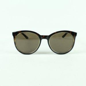 Guess Gafas de sol redondas marrón-marrón-negro tejido mezclado