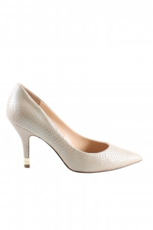 Guess Spitz-Pumps creme Animalmuster Business-Look