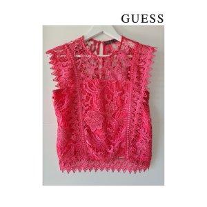 Guess Kanten blouse framboosrood