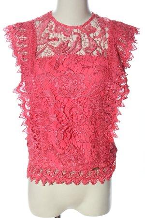 Guess Koronkowa bluzka różowy Imprezowy wygląd