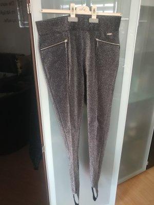 Guess Pantalón con estribo color plata-gris antracita