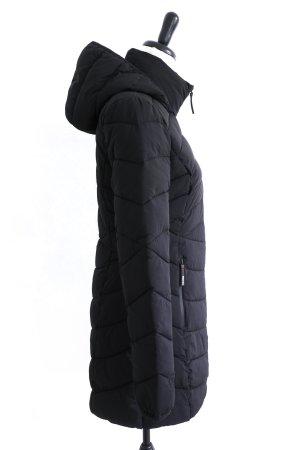 GUESS Stepp Winter Mantel Jacke Kapuze schwarz