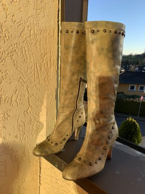 Guess Heel Boots lime yellow-olive green