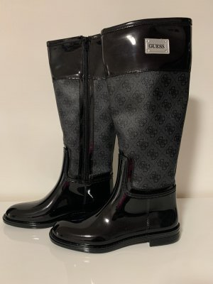 Guess Wellies black-silver-colored
