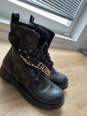 Guess Gotyckie buty brązowy-czarny