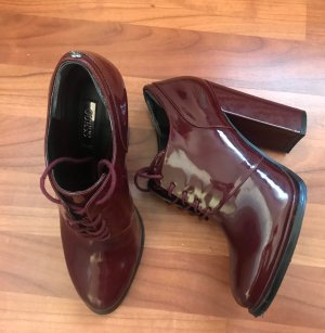 Guess Stiefelette Gr. 38 Boots booties High heels Blockabsatz anke boot bordeaux