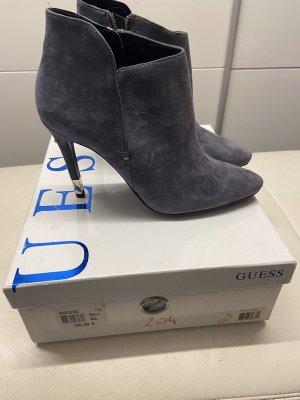 Guess Peep Toe Booties grey