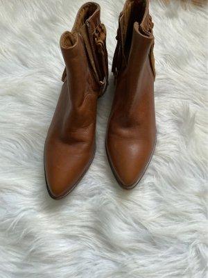 Guess Botki w stylu western brązowy